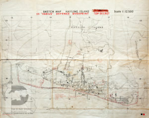 This map of Hayling Island was used during Exercise Fabius. It shows beach defences and which units landed where.